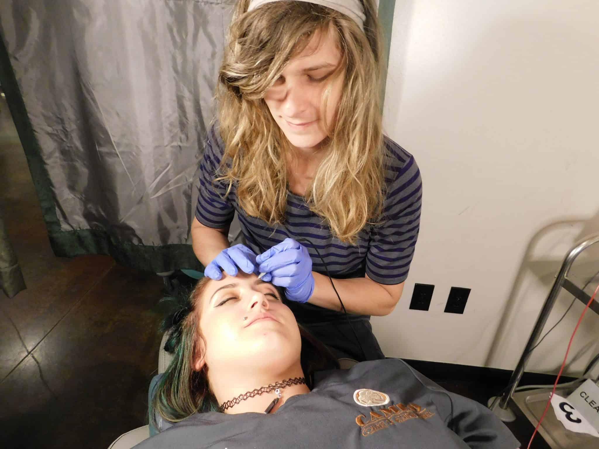 Electrolysis hair removal eyebrows